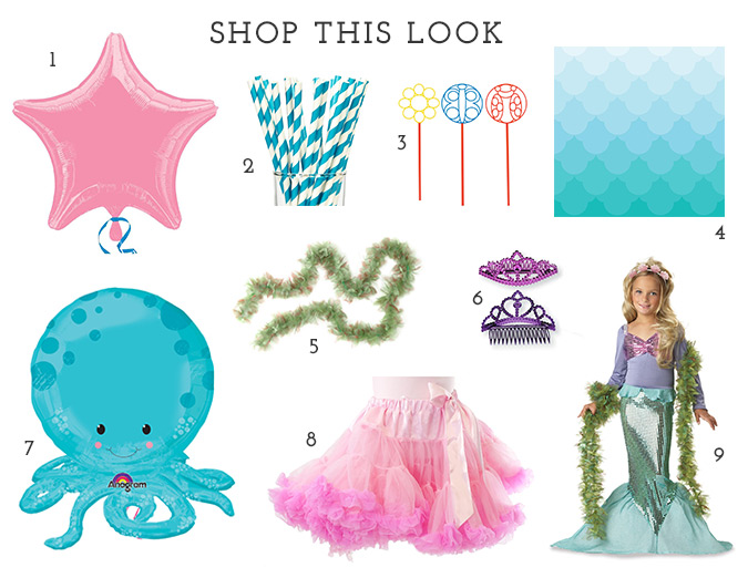 Mermaid products available at BirthdayExpress.com
