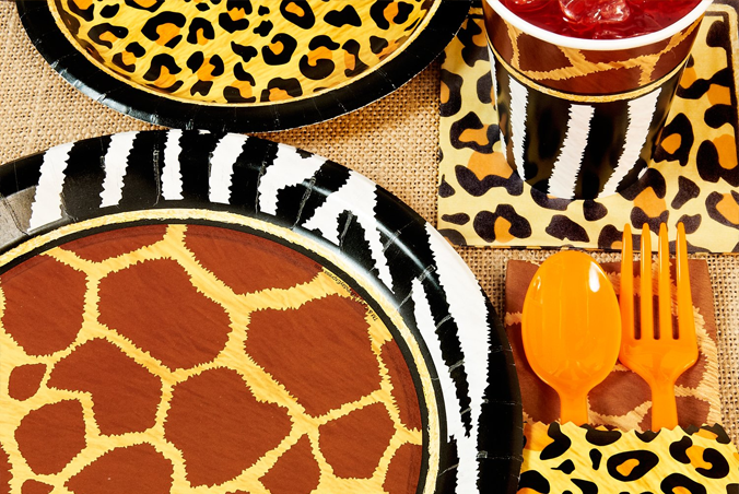 Zebra And Cheetah Print Party Supplies Best 2018 & Leopard Print Party Theme - Leopard Image HD