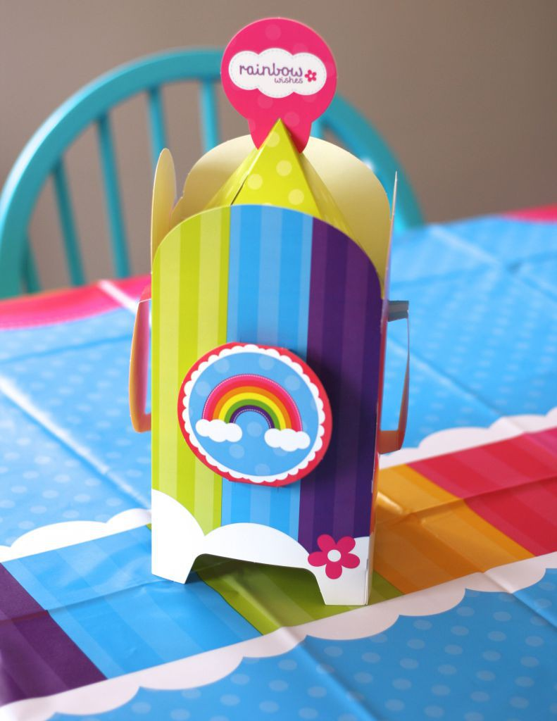 Rainbow Wishes Centerpiece