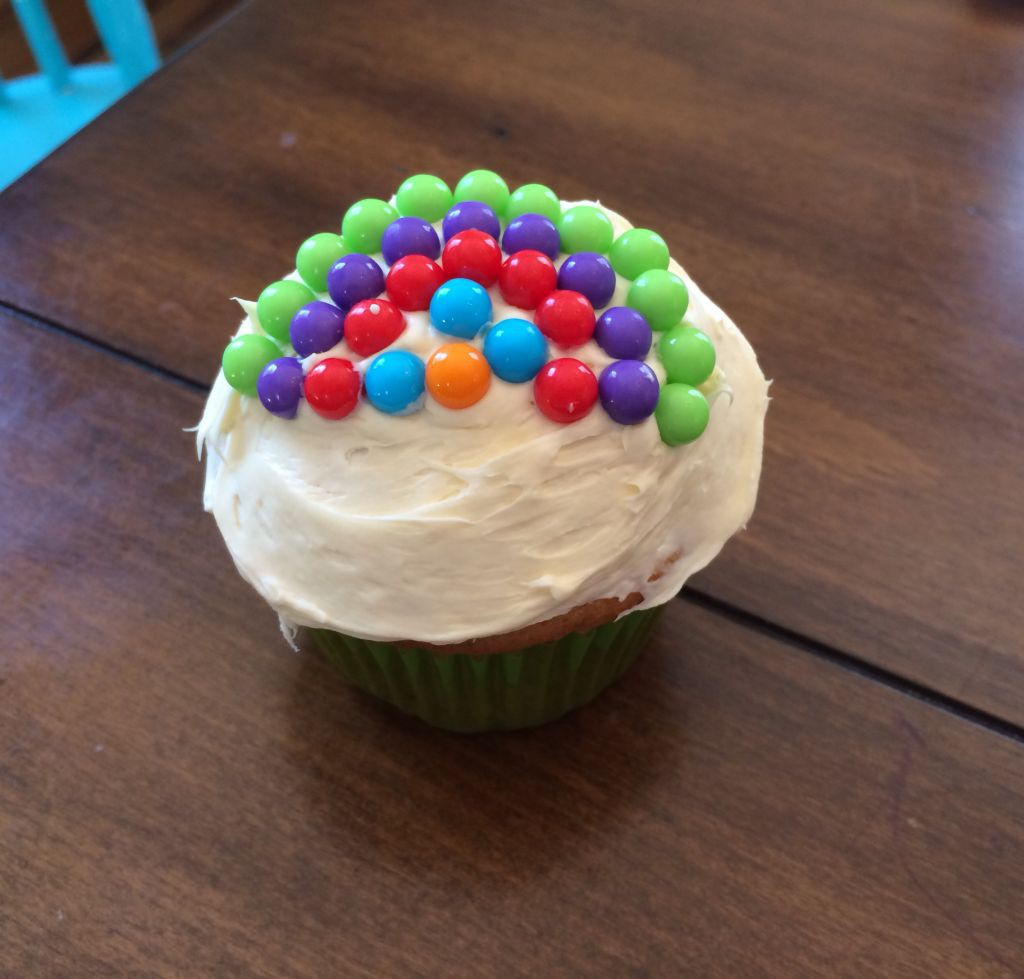 Rainbow Wishes Cupcake
