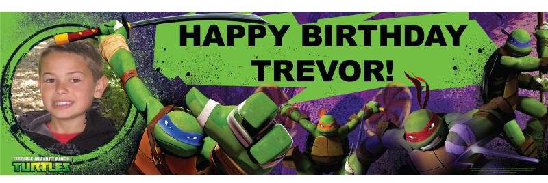 TMNT Personalized Banner