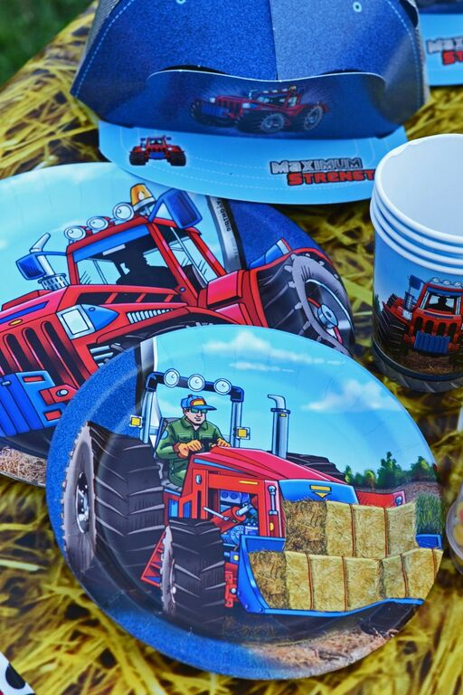 Farm Tractor Place Setting