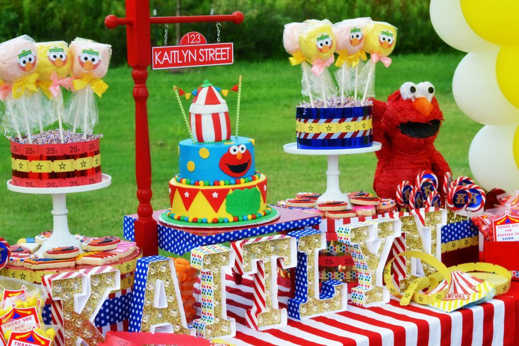 Elmo Circus Party By Brittany Schwaigert Hi Birthday