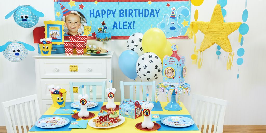 Blues Clues Happy Birthday Party Banner