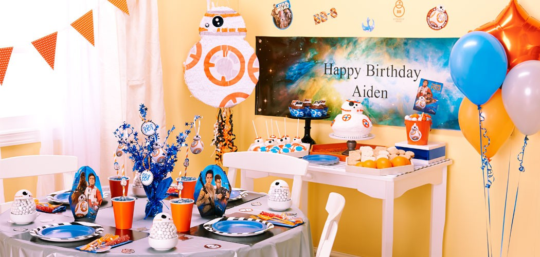 BB 8 Star Wars VII Birthday Party Theme Ideas