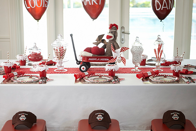 Sock Monkey Celebration Birthday Express