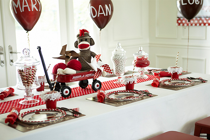 Sock Monkey Table Decorations Photograph Pin Monkey Birthd