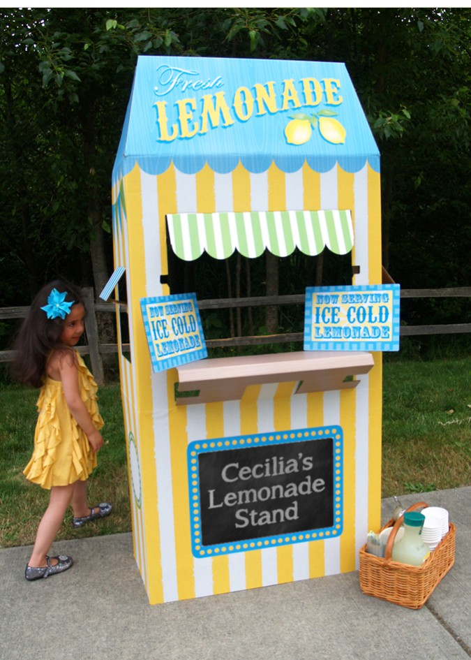 My daughter putting her Lemonade Stand to good use in our neighborhood.