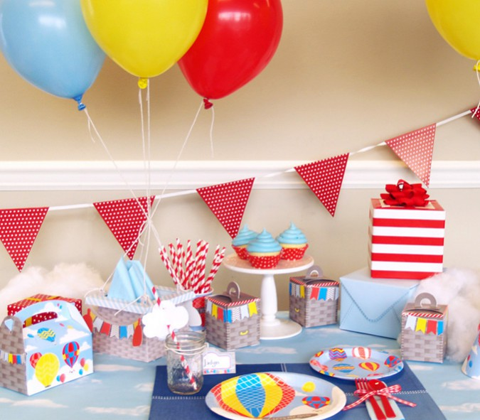 Hot Air Balloon Party Birthday Express