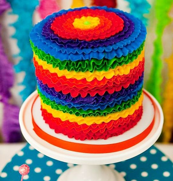 Birthday Cake Ideas Rainbow : Rainbow Birthday Party BirthdayExpress