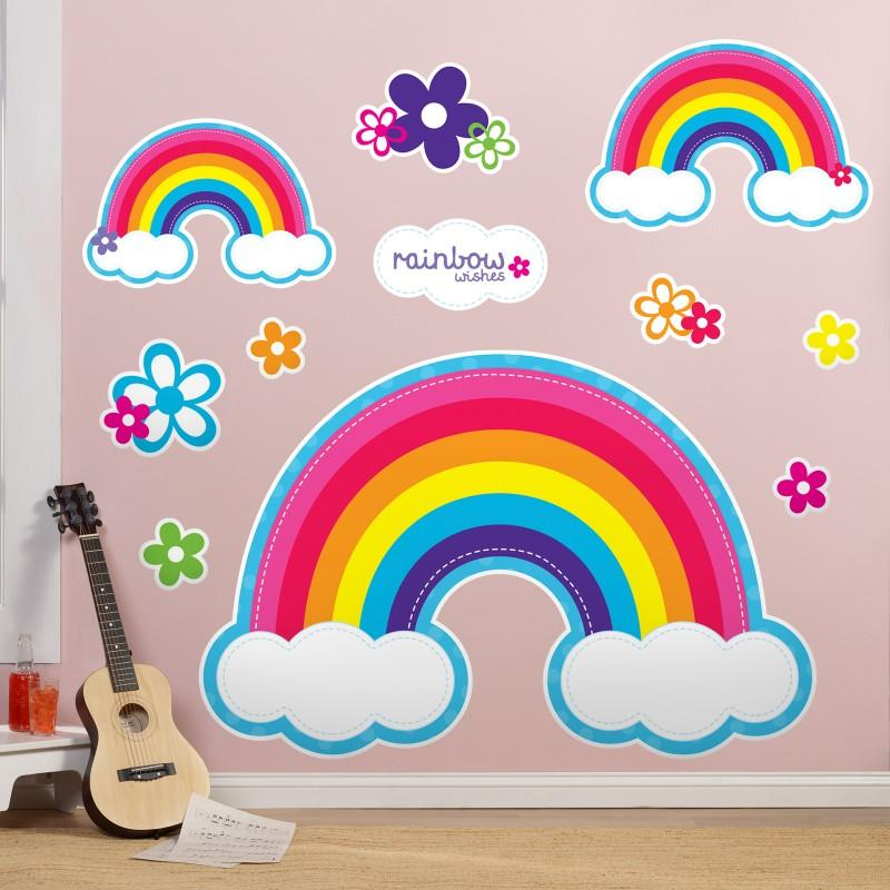 Rainbow Wishes Decals