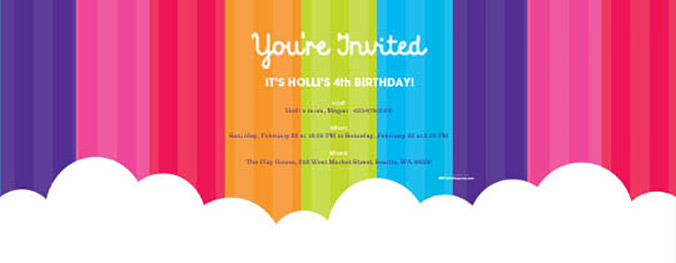 Matching Rainbow Wishes invitation now available on Evite.