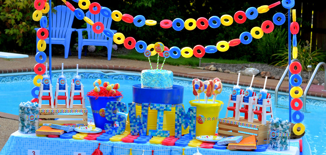 Pool Party Themes And Ideas pool party ideas kids pool party decorations for kids pool party decorations birthday decoration ideas Pool Party Birthday Theme