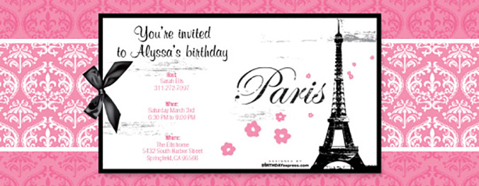 Paris Damask invitation now available on Evite.