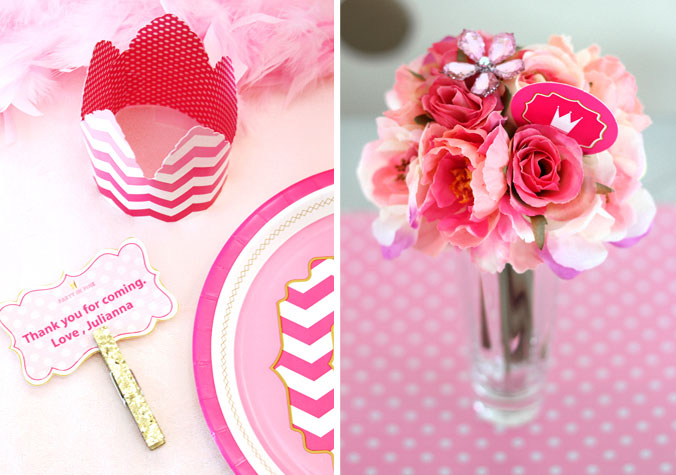 Pink Party by Birthday Express. Event styled by Jen Dixon of Craft That Party.