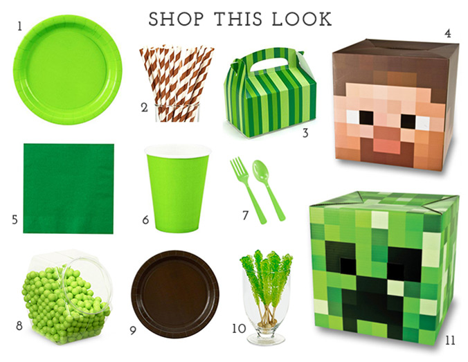 Shop This Look: Minecraft Party
