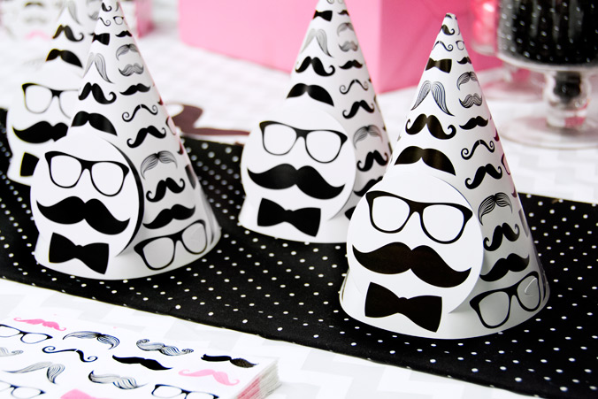 Pink Mustache Party now available at BirthdayExpress.com