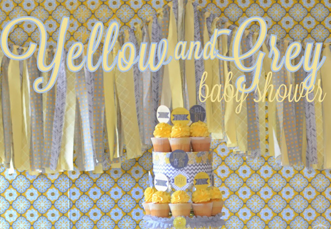 Yellow And Grey Baby Shower Styled By GreyGrey Designs.