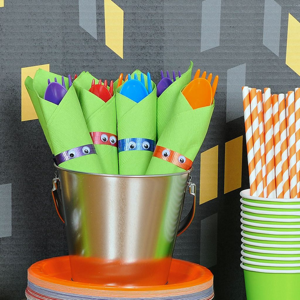 Personalized tmnt party birthday express for Tmnt decorations