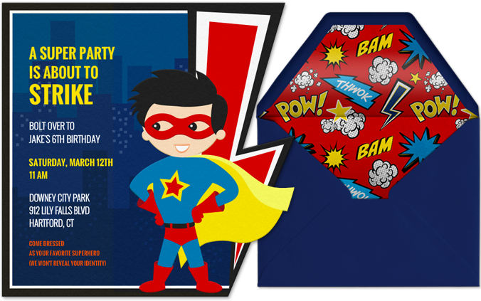 Super Easy Superhero Birthday Party Ideas – Superheroes Party Invitations