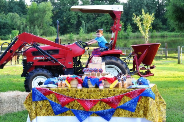 Farm Tractor Party with an actual tractor